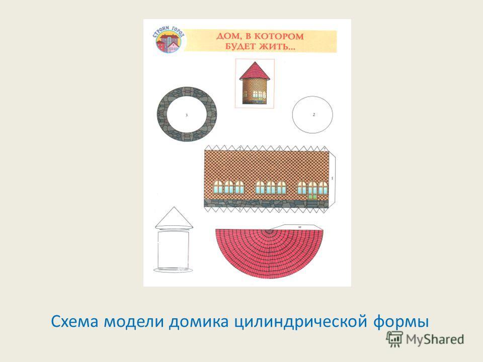 Схема модели домика цилиндрической формы