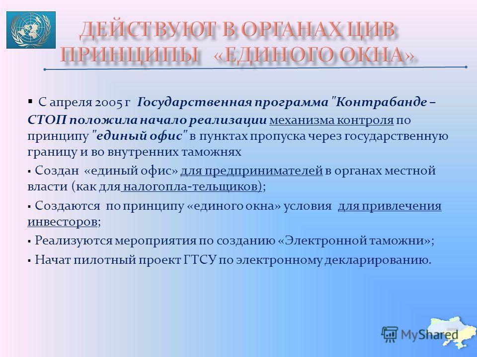 С апреля 2005 г Государственная программа