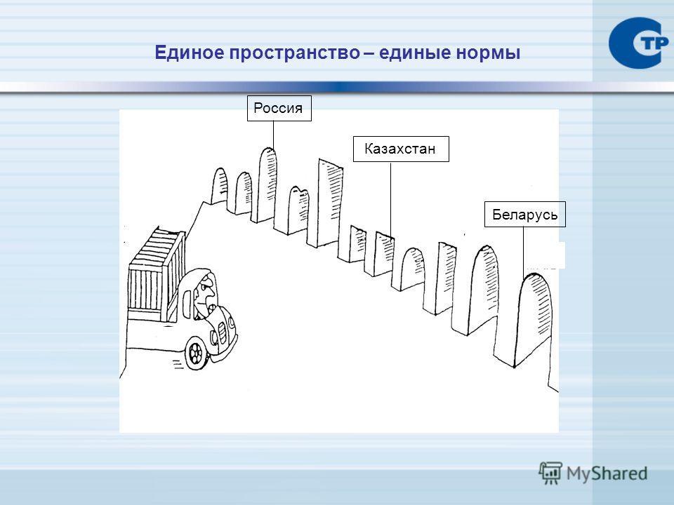 Единое пространство – единые нормы Россия Казахстан Беларусь