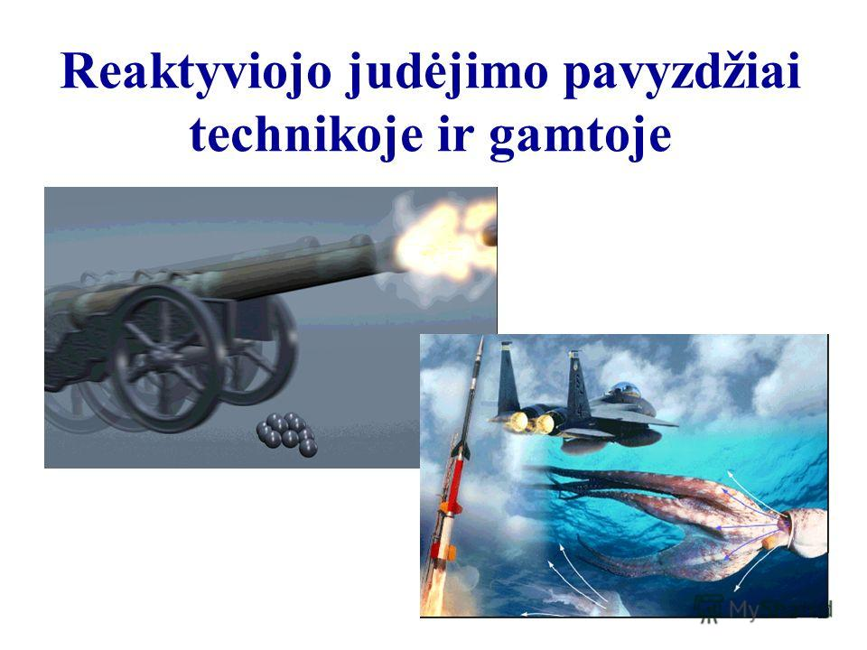 Reaktyviojo judėjimo pavyzdžiai technikoje ir gamtoje