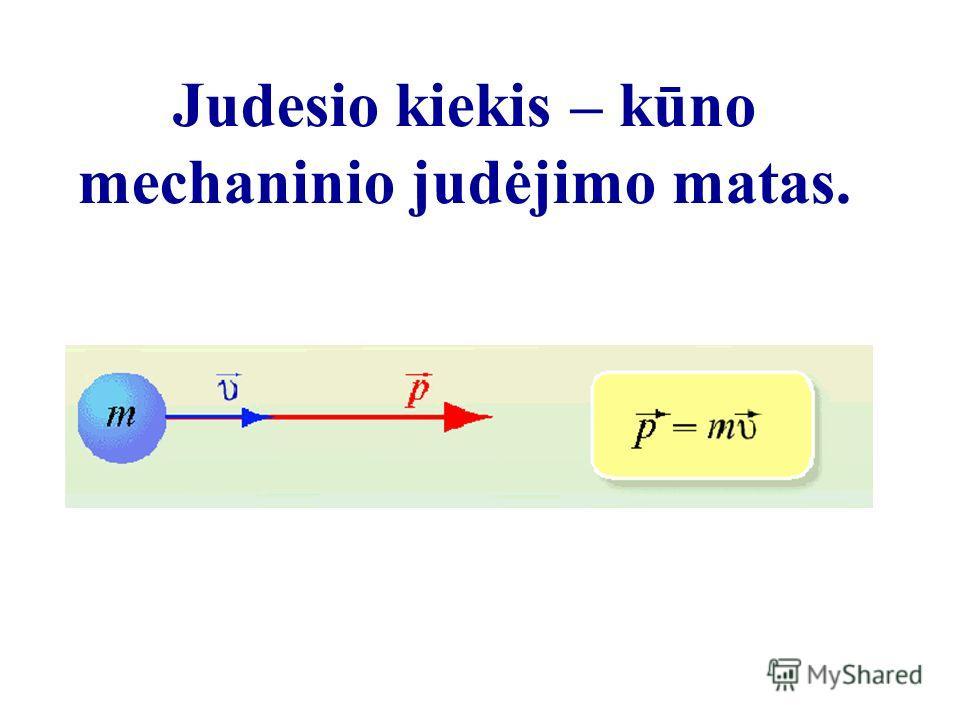 Judesio kiekis – kūno mechaninio judėjimo matas.