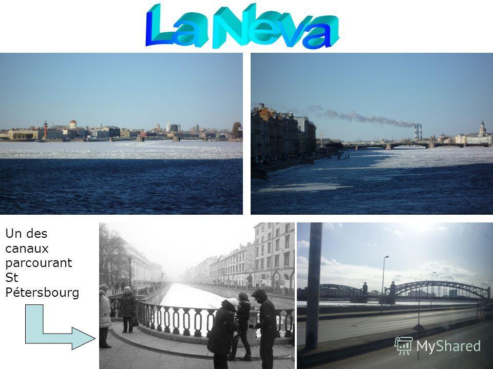 Un des canaux parcourant St Pétersbourg