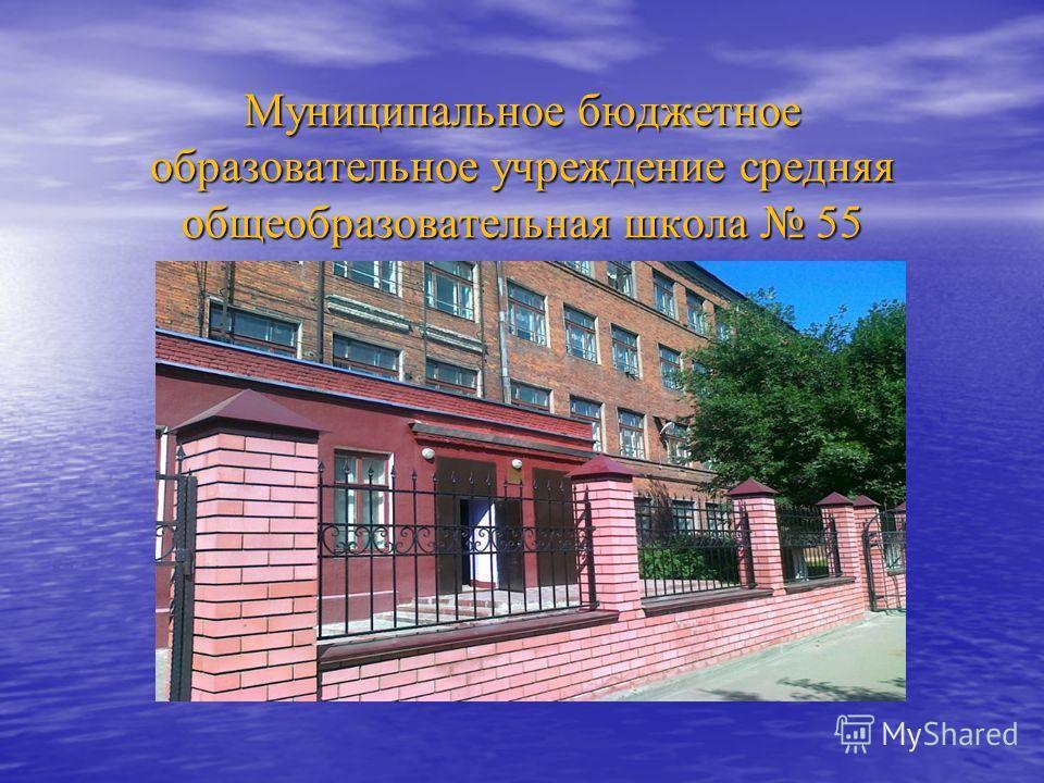 Муниципальное бюджетное образовательное учреждение средняя общеобразовательная школа 55