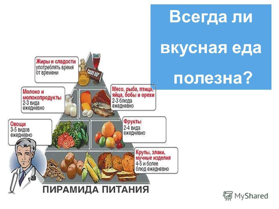 Всегда ли вкусная еда полезна?