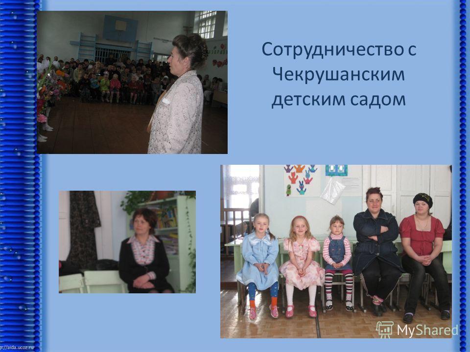 Сотрудничество с Чекрушанским детским садом