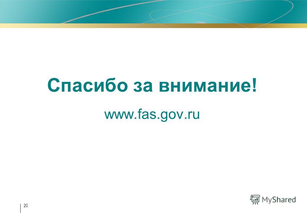 20 Спасибо за внимание! www.fas.gov.ru