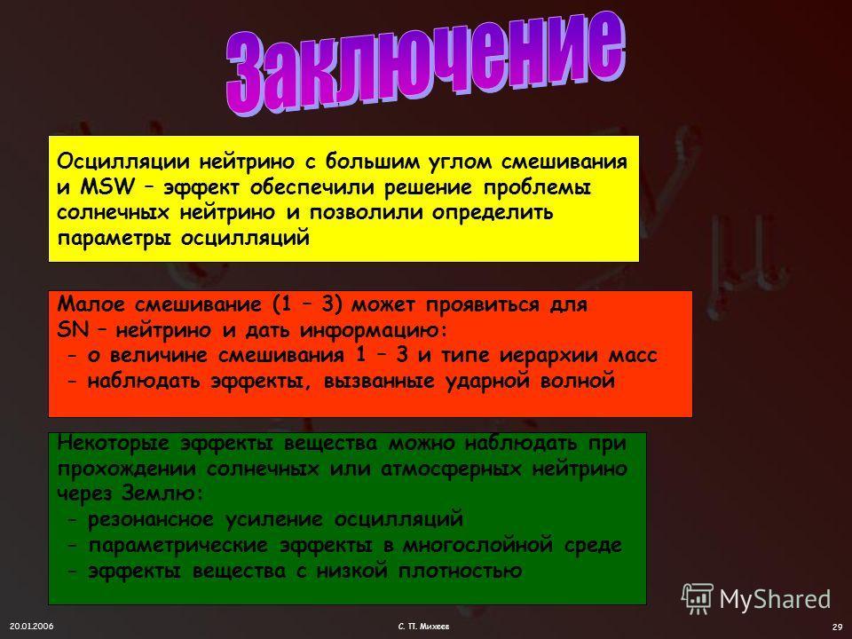 20.01.2006С. П. Михеев 28 Сессия Ученого совета