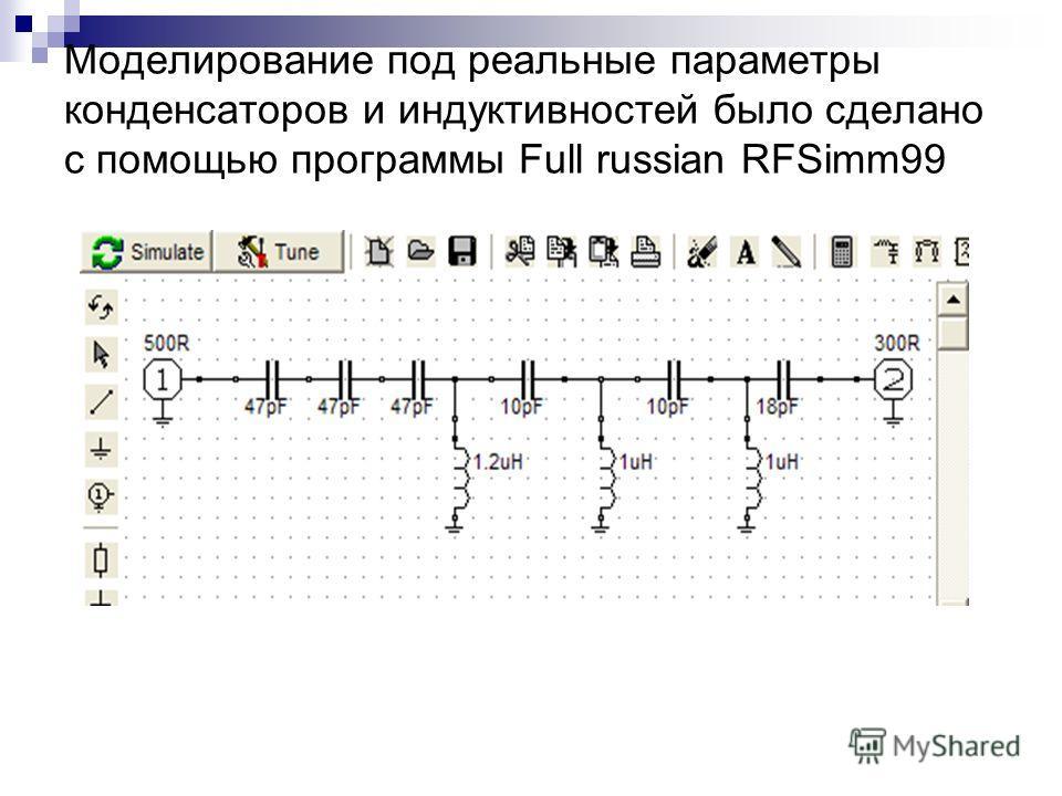Разработка ФВЧ Предварительный расчет фильтра был сделан с помощью программы «Filter Solutions»