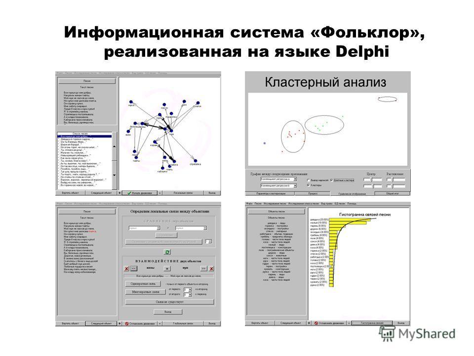 Информационная система «Фольклор», реализованная на языке Delphi