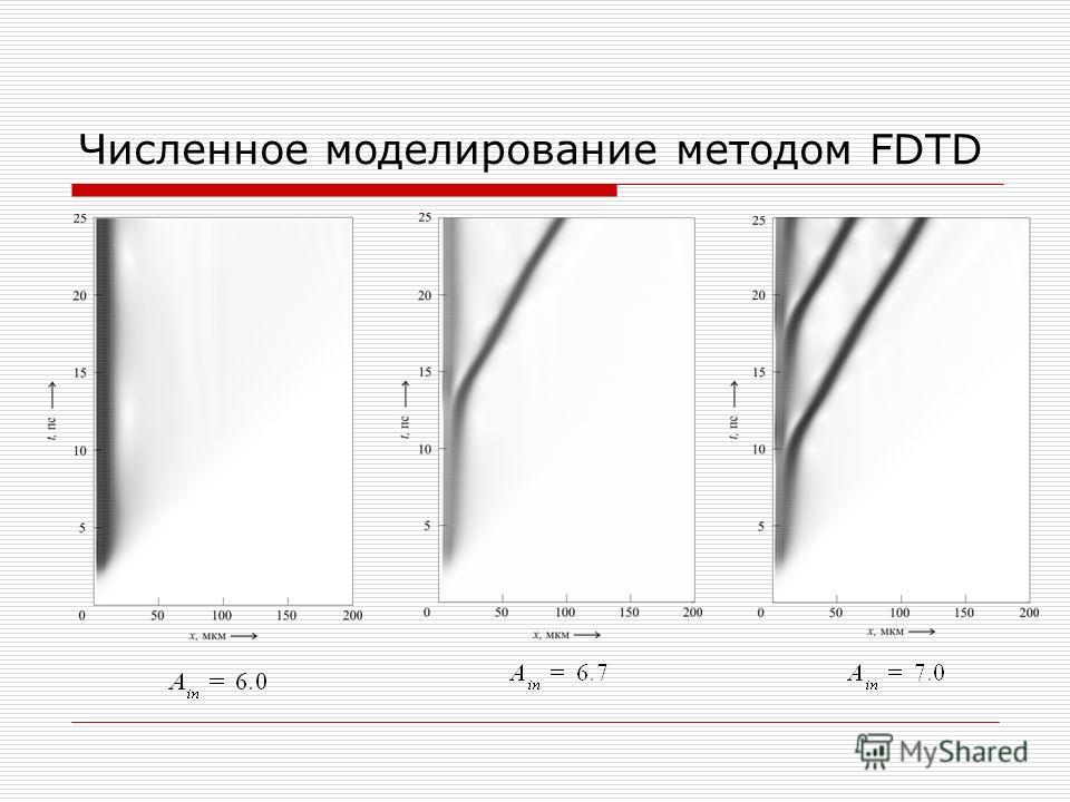 Численное моделирование методом FDTD