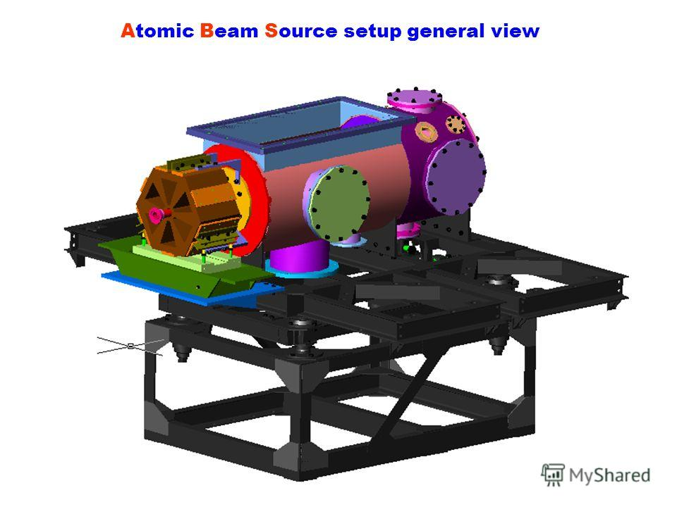 Atomic Beam Source setup general view