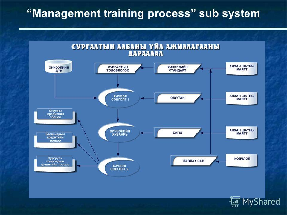 Management training process sub system
