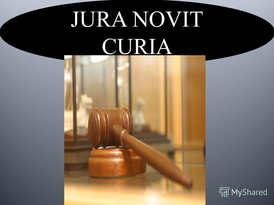 JURA NOVIT CURIA