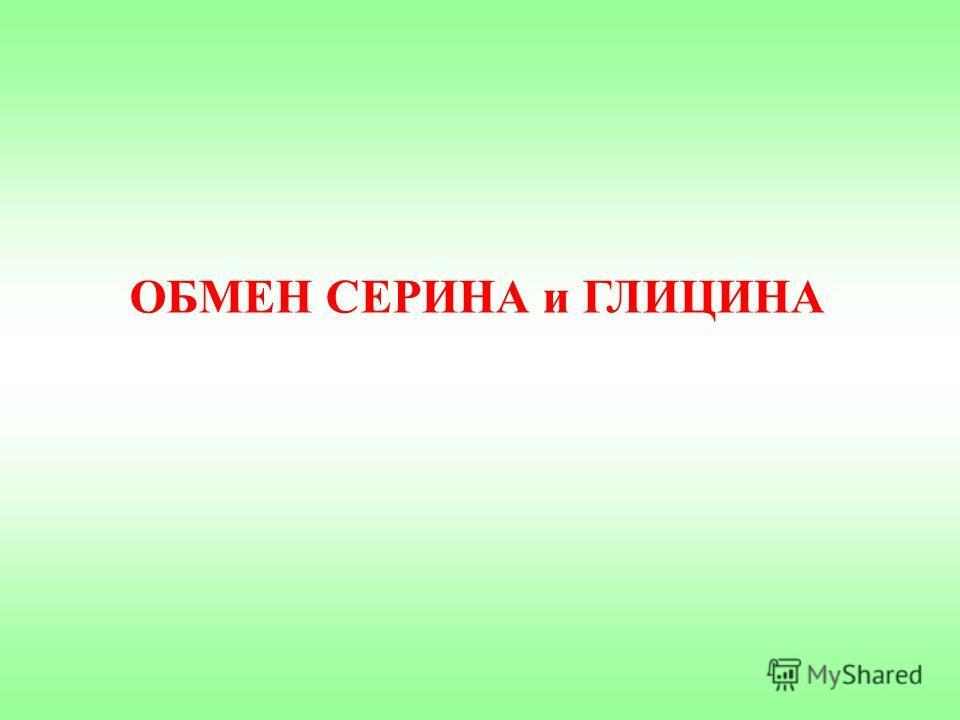 ОБМЕН СЕРИНА и ГЛИЦИНА