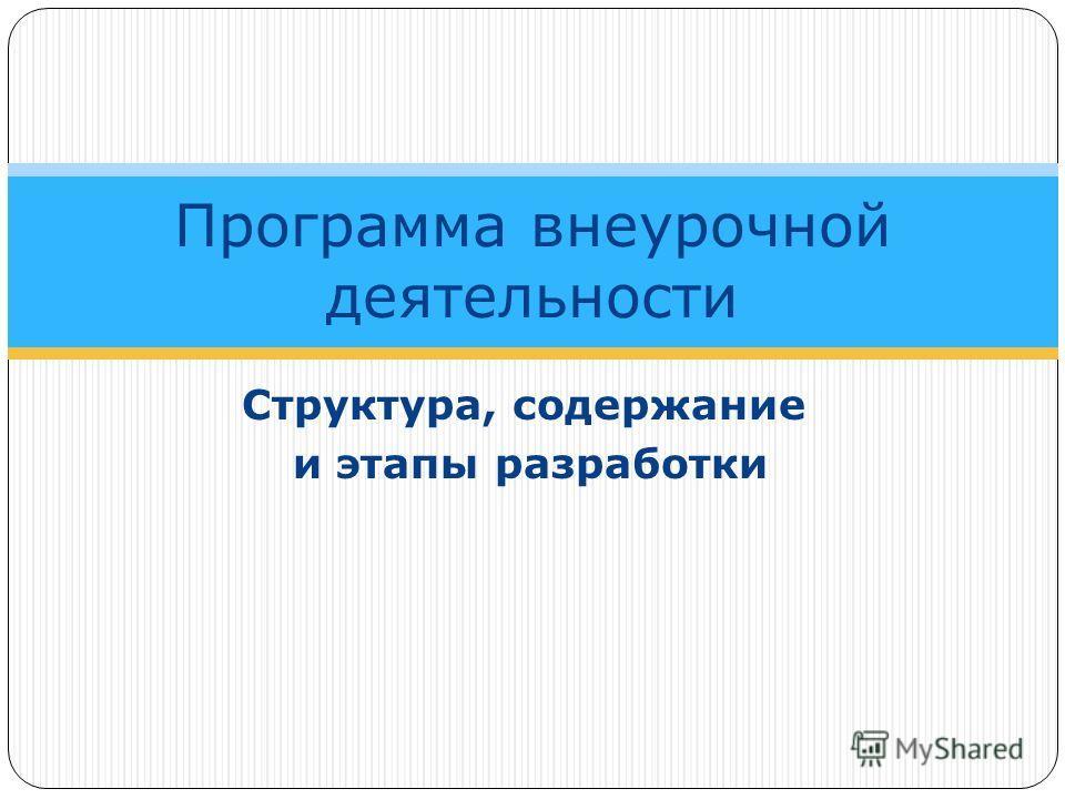 Структура, содержание и этапы разработки Программа внеурочной деятельности