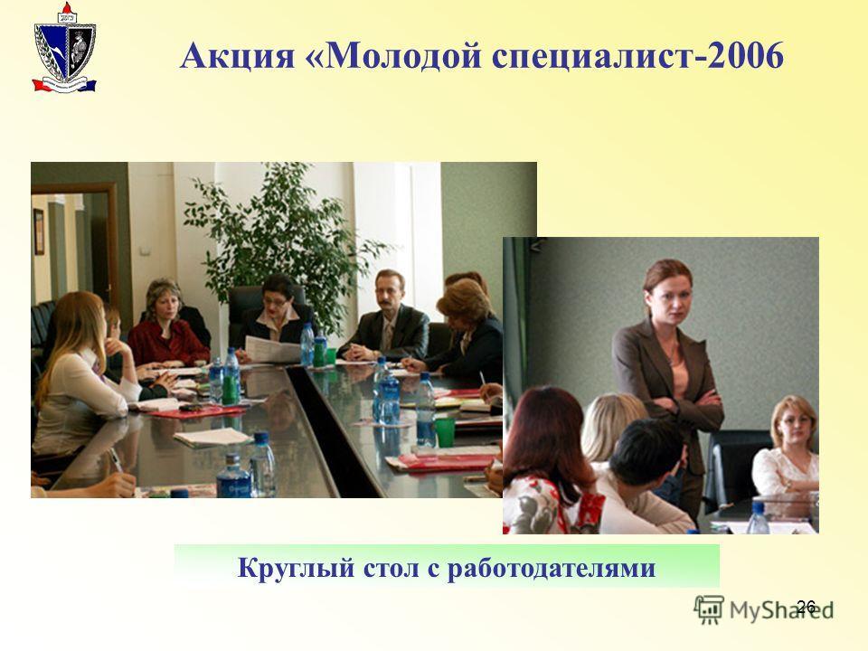 26 Акция «Молодой специалист-2006 Круглый стол с работодателями