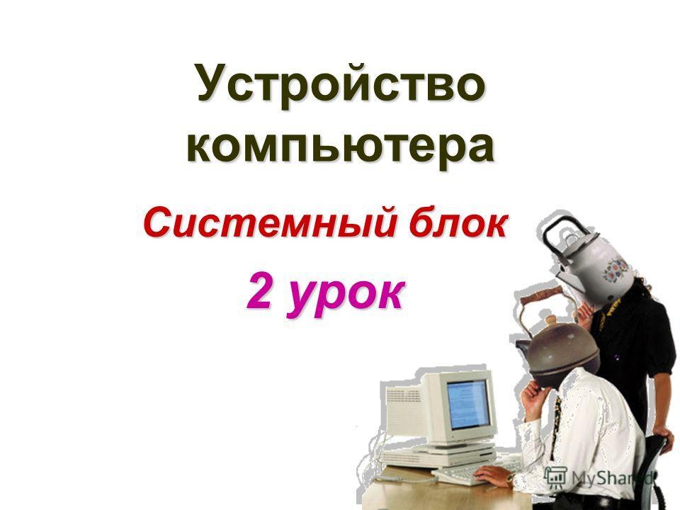 Устройство компьютера Системный блок 2 урок