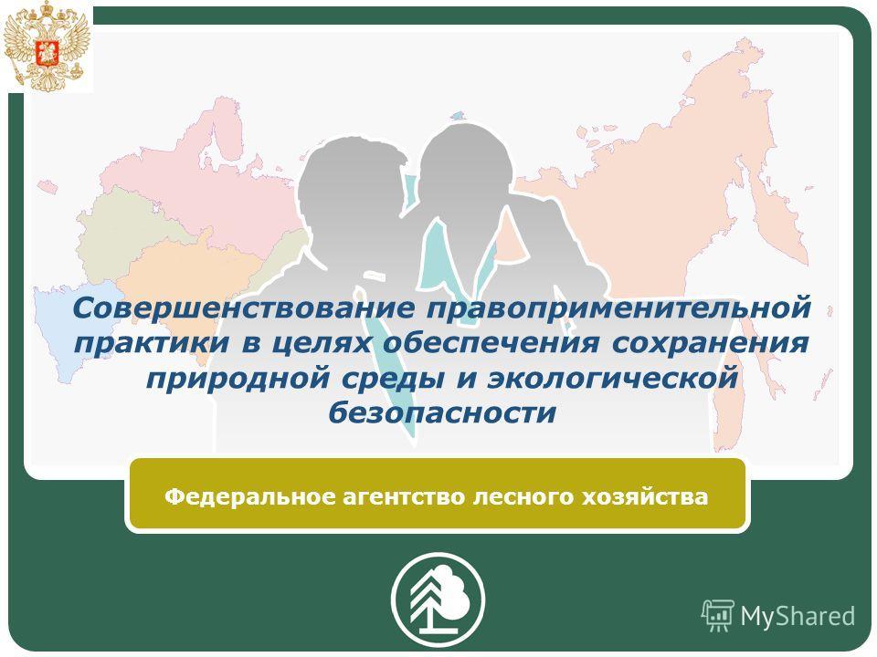 Совершенствование правоприменительной практики в целях обеспечения сохранения природной среды и экологической безопасности Федеральное агентство лесного хозяйства