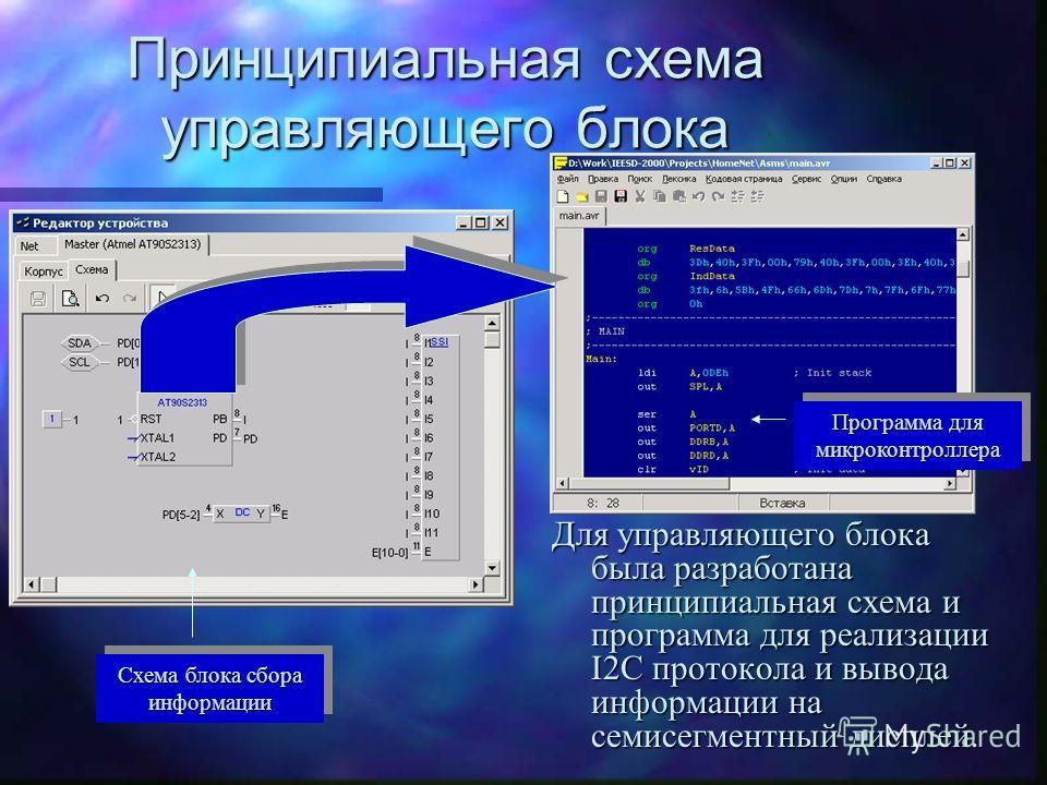 Имитация семисегментного индикатора Для имитации работы индикатора использовалась библиотека индикаторов, входящих в пакет вспомогательных проектов цифровых устройств системы.