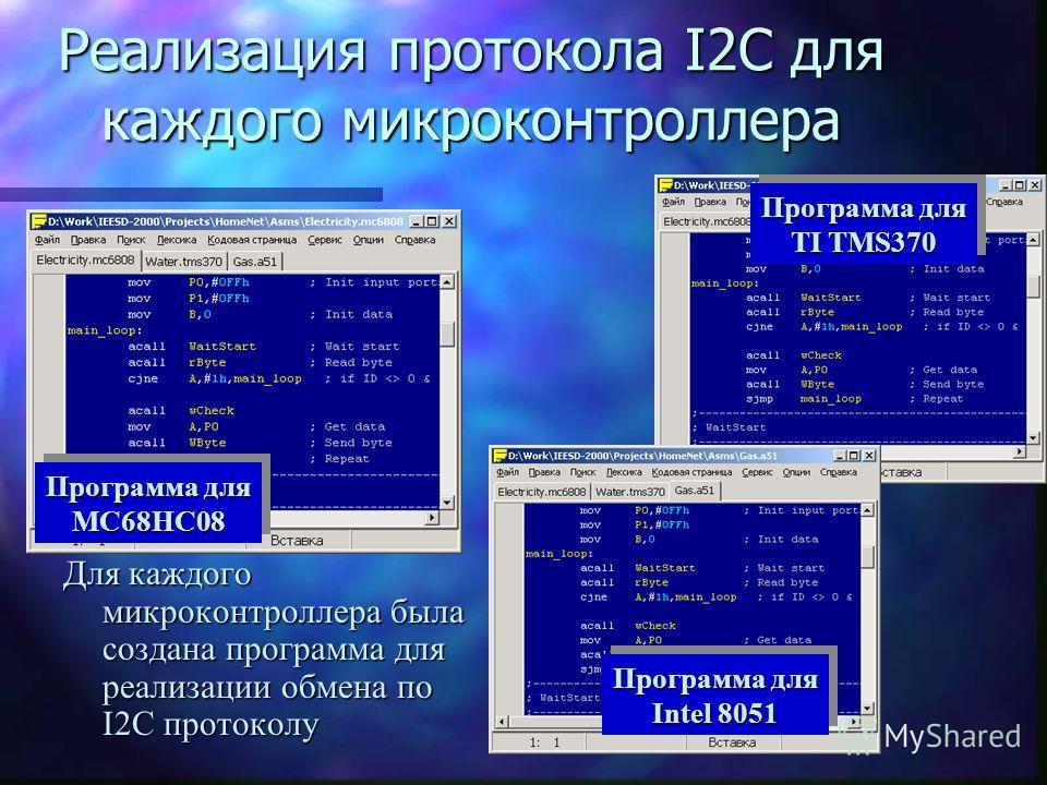Принципиальные схемы для блоков контроля за ресурсами Каждый блок контроля за ресурсом был представлен в виде микроконтроллера и датчика Микроконтроллеры ДатчикиДатчики