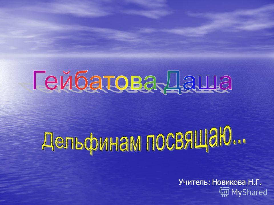 Учитель: Новикова Н.Г.