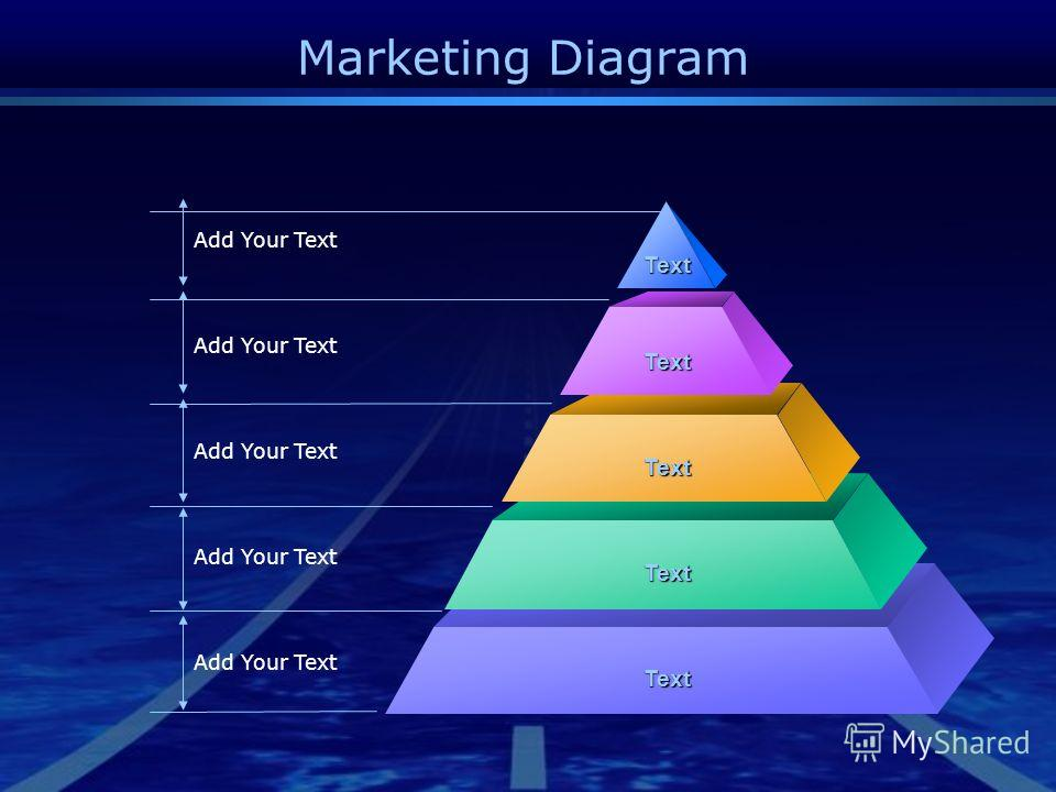 Marketing Diagram Add Your Text Text Text Text Text Text
