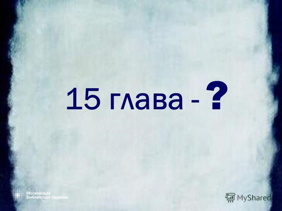 15 глава - ?