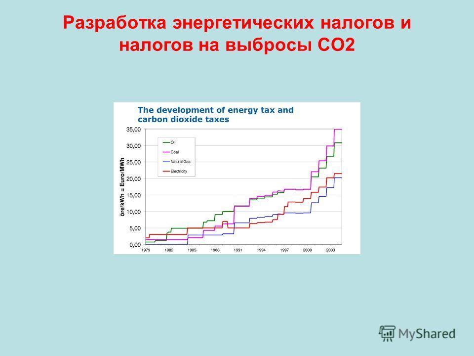 Разработка энергетических налогов и налогов на выбросы СО2