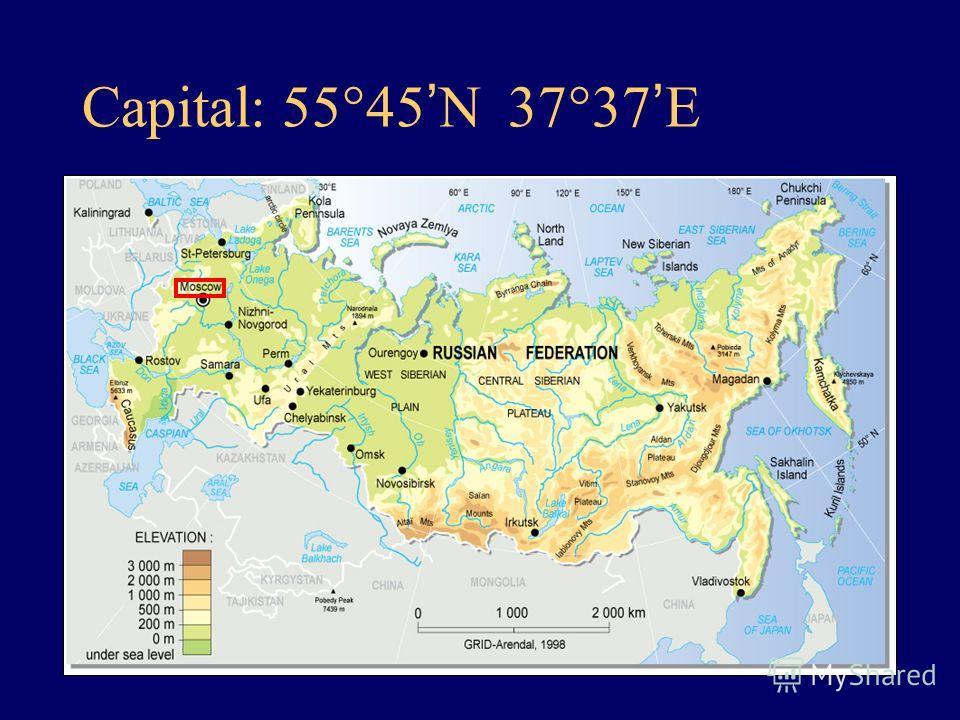 Capital: 55 45 N 37 37 E