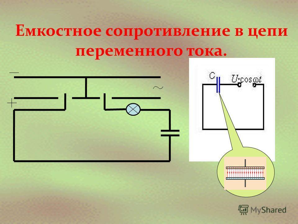 Емкостное сопротивление в цепи переменного тока.