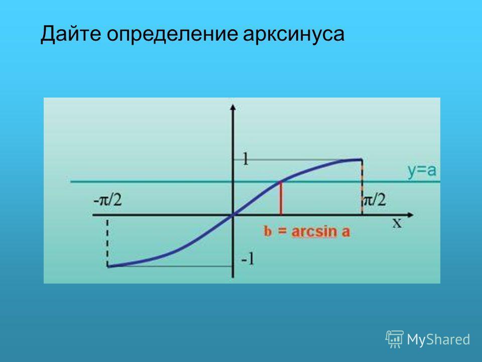 Дайте определение арксинуса