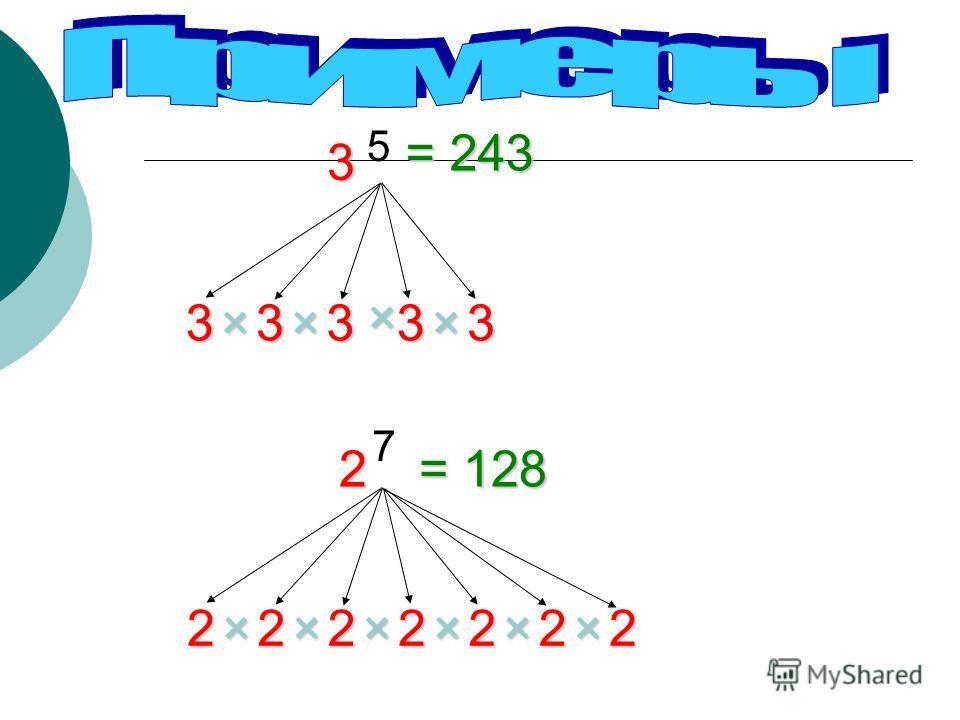 12345 3 3333×××× 3 5 33333×××× 3 6 3× = 243 = 729