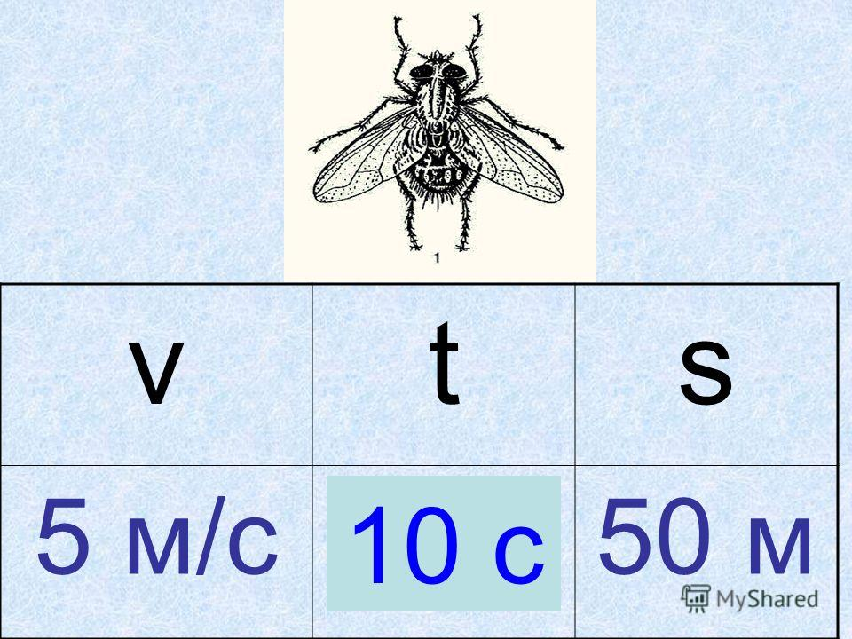 vts 5 м/с? с.50 м 10 с