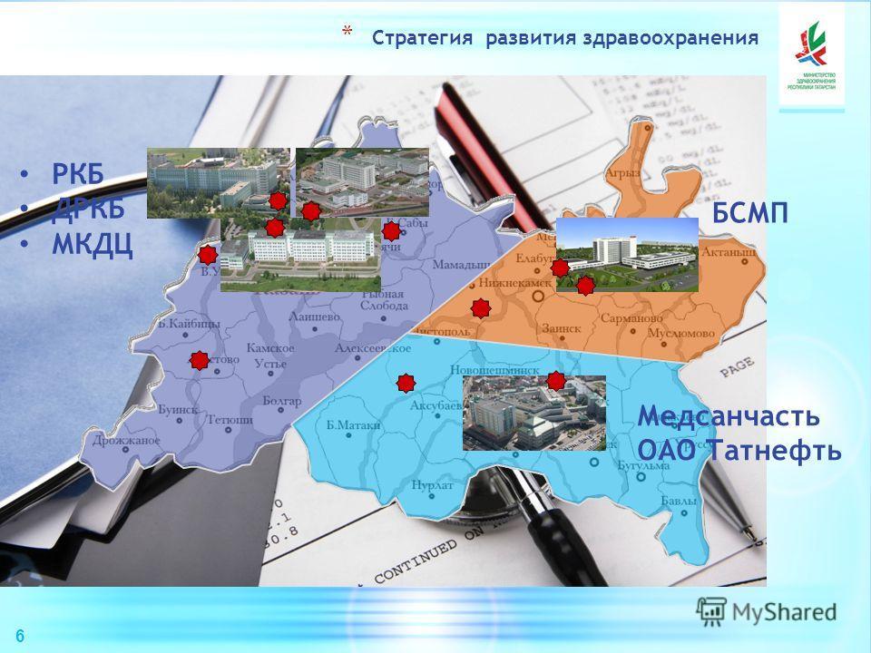 6 * Стратегия развития здравоохранения РКБ ДРКБ МКДЦ БСМП Медсанчасть ОАО Татнефть