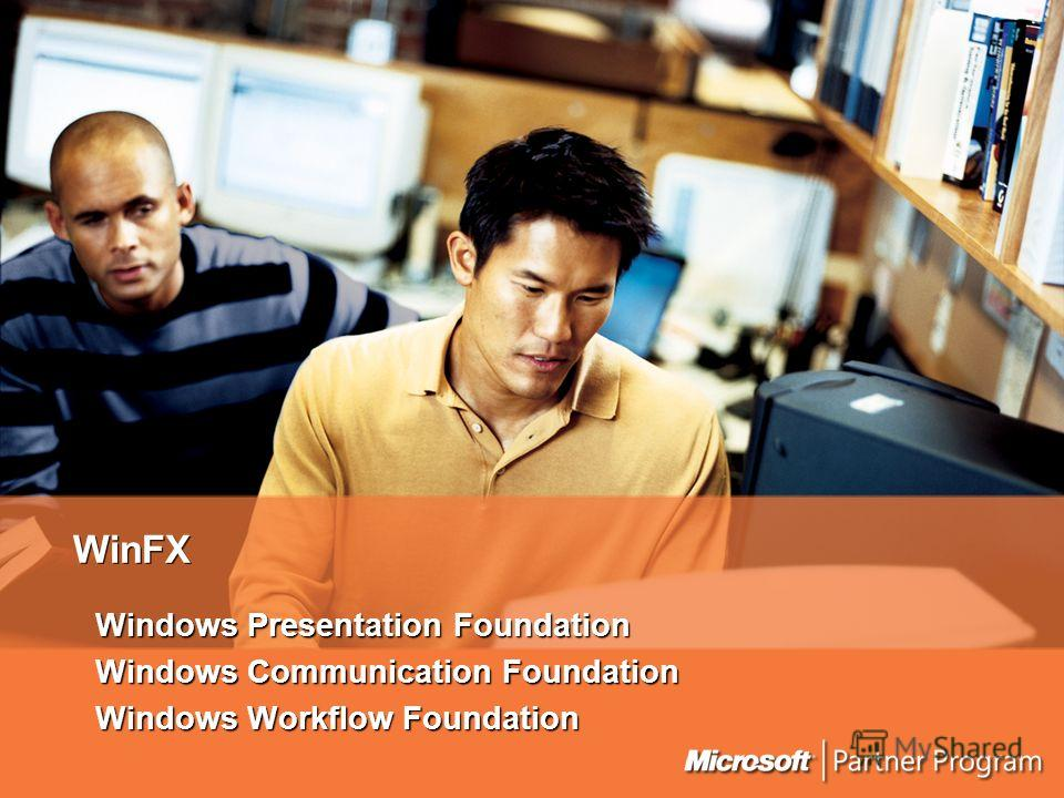 WinFX Windows Presentation Foundation Windows Communication Foundation Windows Workflow Foundation
