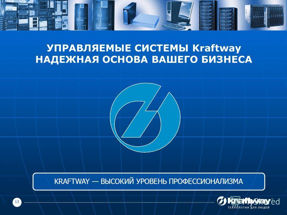 13 УПРАВЛЯЕМЫЕ СИСТЕМЫ Kraftway НАДЕЖНАЯ ОСНОВА ВАШЕГО БИЗНЕСА KRAFTWAY ВЫСОКИЙ УРОВЕНЬ ПРОФЕССИОНАЛИЗМА