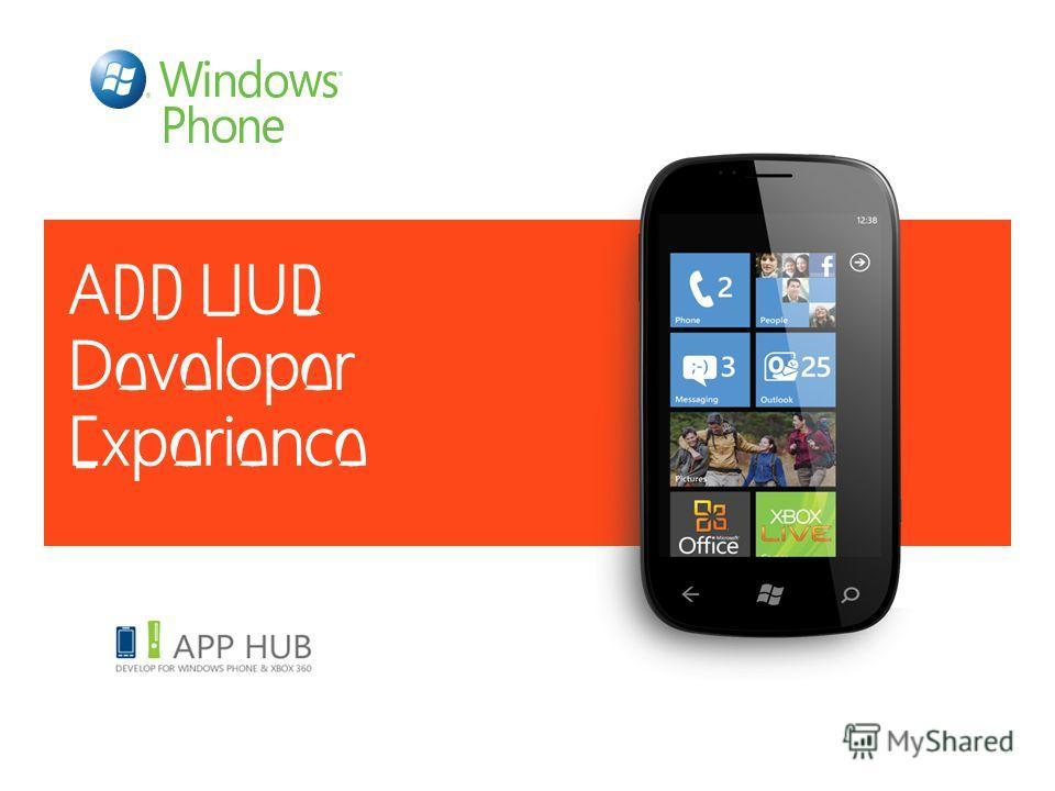 APP HUB Developer Experience