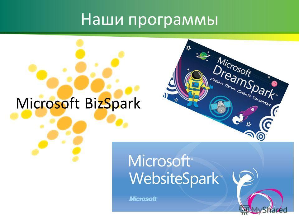 Microsoft BizSpark Наши программы