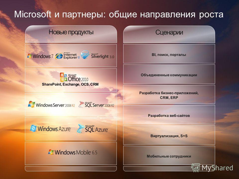 Microsoft и партнеры: общие направления роста