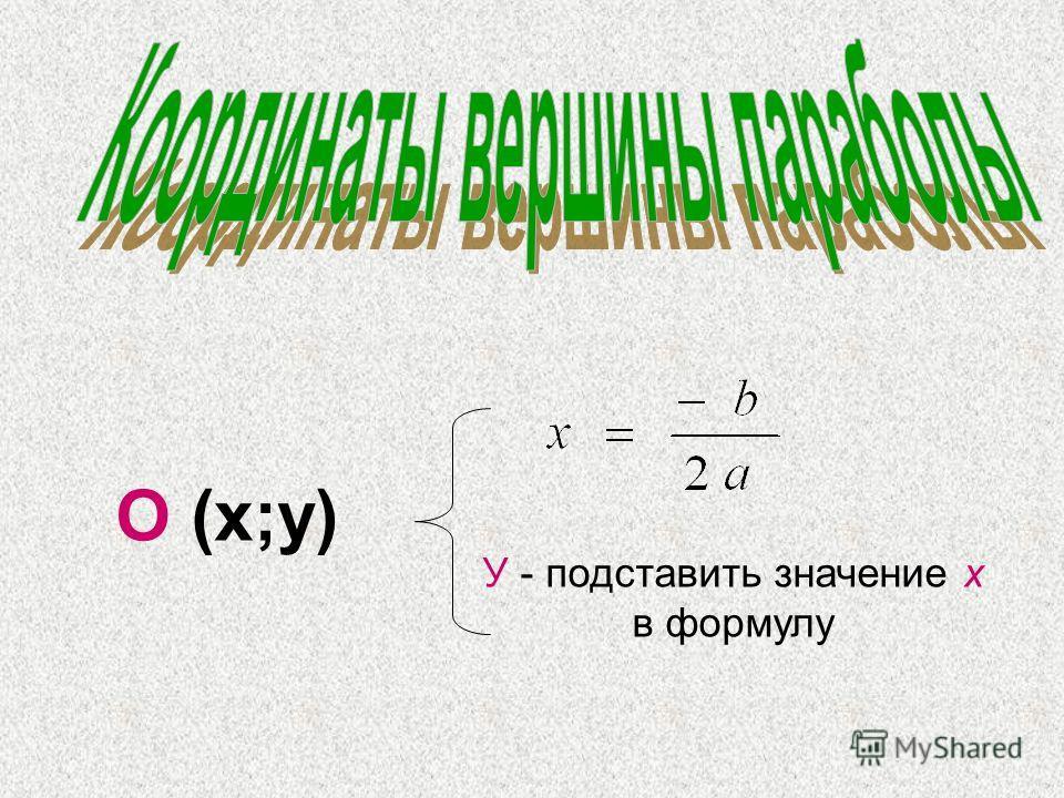 х у О у= а(х+p)² +q