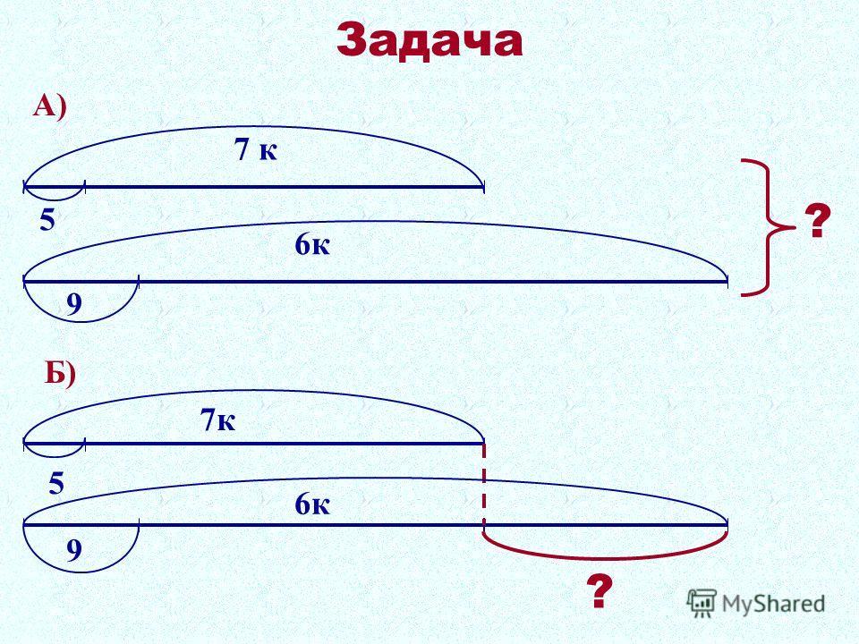 Задача 5 7 к 9 6к А) ? 5 9 7к 6к Б) ?