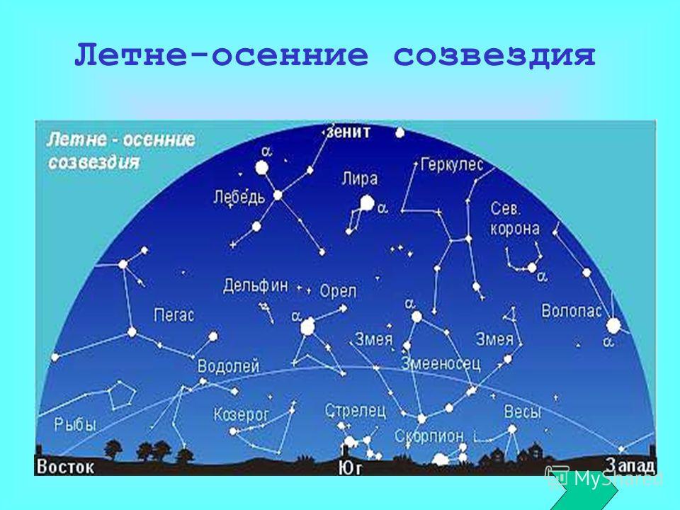 Летне-осенние созвездия