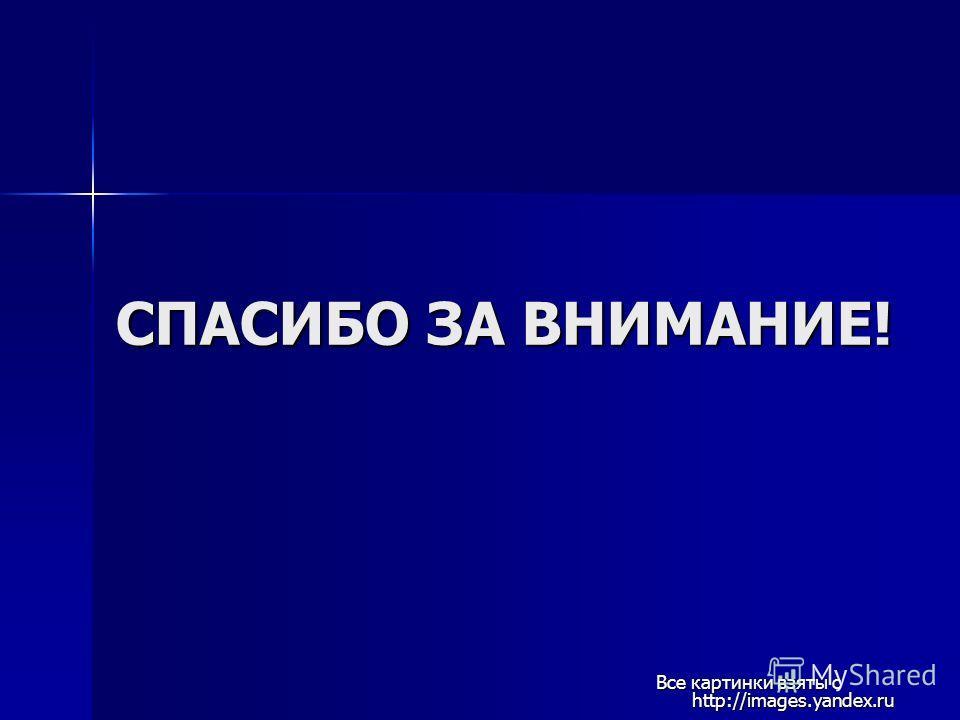 СПАСИБО ЗА ВНИМАНИЕ! Все картинки взяты с http://images.yandex.ru