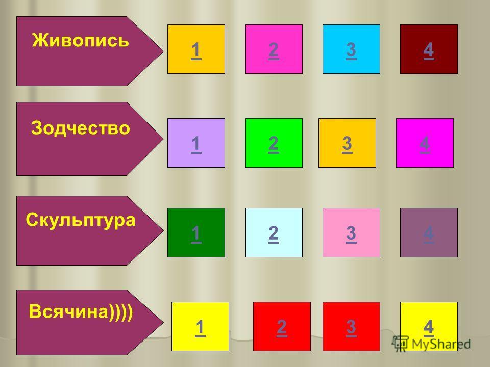 Зодчество Живопись Скульптура Всячина)))) 132 432 432 432 1 1 1 4