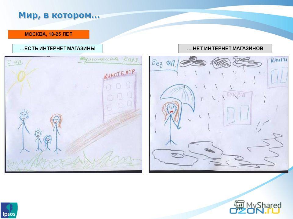 МОСКВА, 18-25 ЛЕТ …ЕСТЬ ИНТЕРНЕТ МАГАЗИНЫ… НЕТ ИНТЕРНЕТ МАГАЗИНОВ Мир, в котором…
