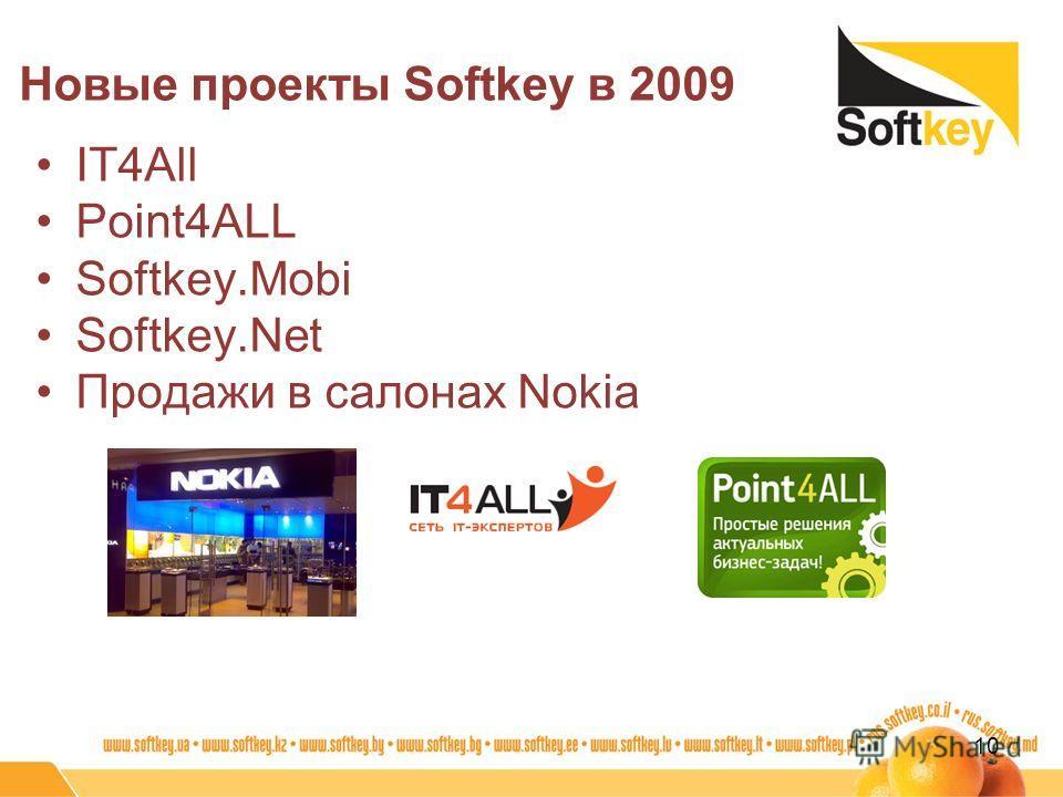 IT4All Point4ALL Softkey.Mobi Softkey.Net Продажи в салонах Nokia Новые проекты Softkey в 2009 10