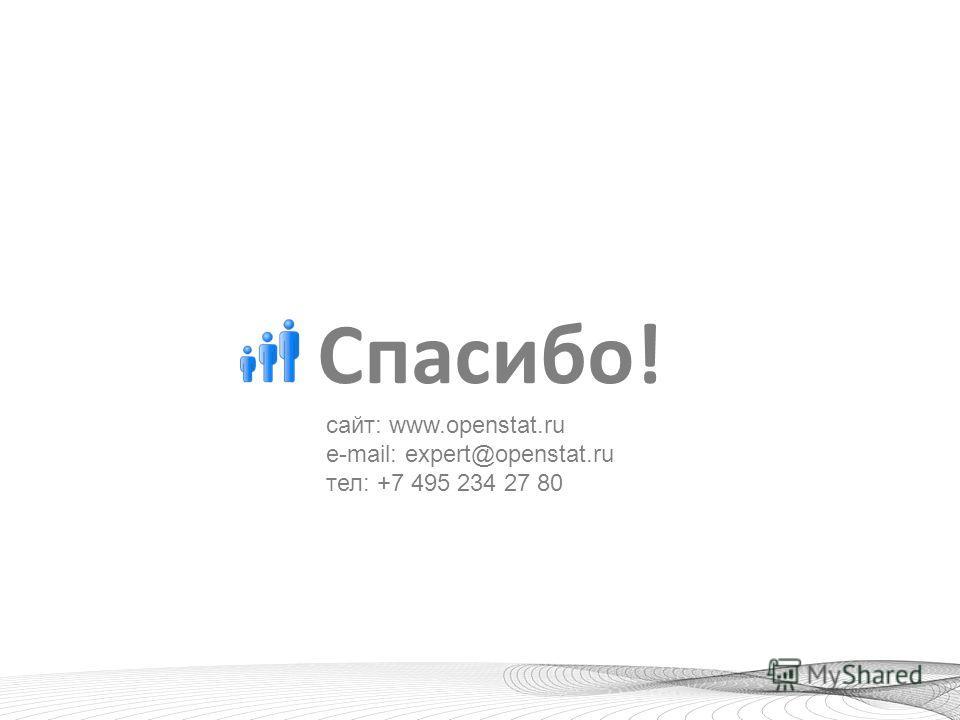 Спасибо! сайт: www.openstat.ru e-mail: expert@openstat.ru тел: +7 495 234 27 80