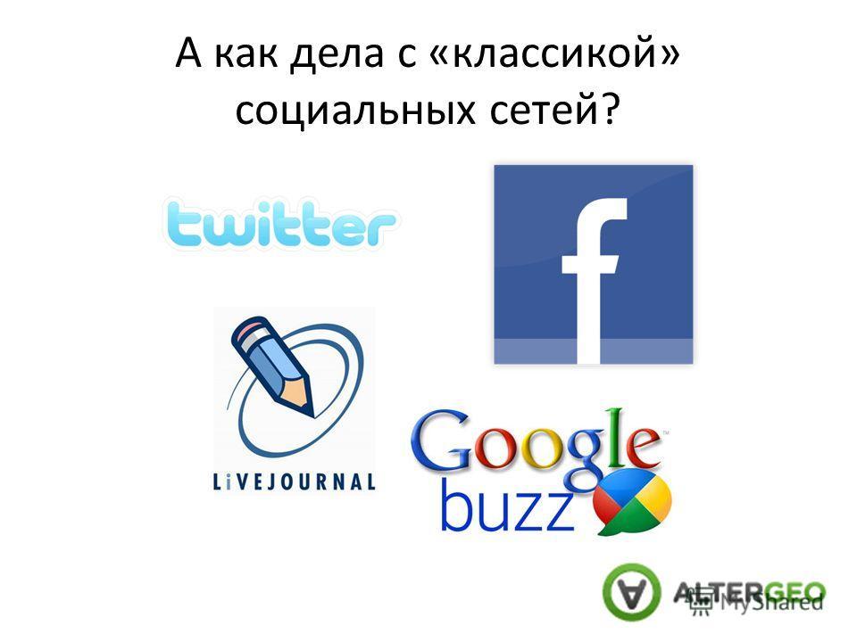 А как дела с «классикой» социальных сетей?