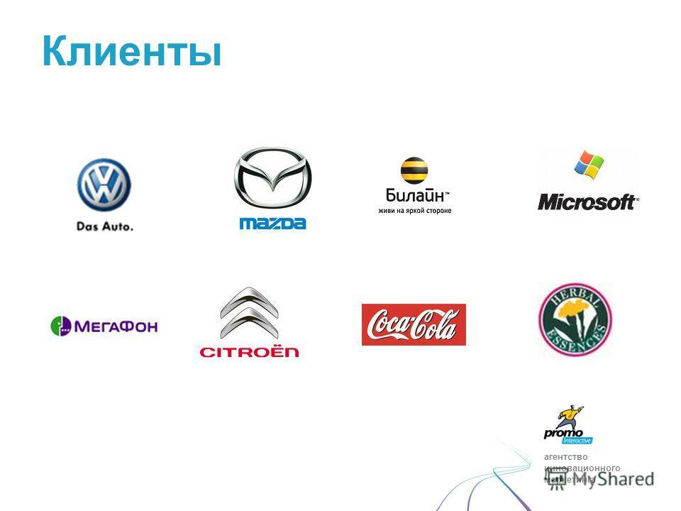 агентство инновационного маркетинга Клиенты