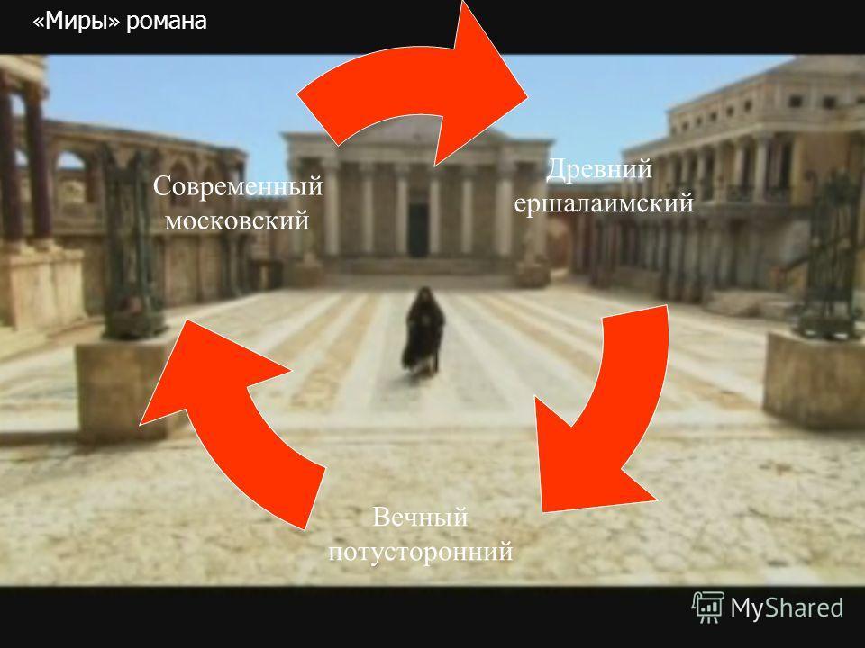 Древний ершалаимский Вечный потусторонний Современный московский « Миры » романа